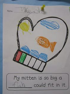The Mitten - Writing activity