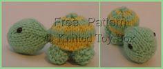 free turtle knitting pattern toy