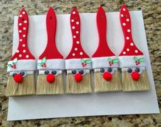 Festive Santa Paint Brushes