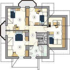 DOM.PL™ - Projekt domu Mój Dom Bratek CE - DOM BM6-33 - gotowy koszt budowy Design Case, Planer, Portal, House Plans, Floor Plans, How To Plan, Studio, Home Decor, Perspective