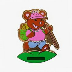 TGBear - gold, trackable
