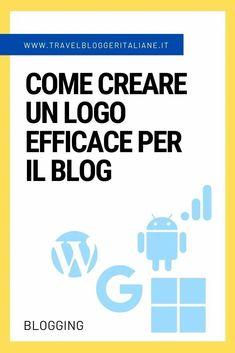 Come creare un logo efficace per il blog Social Media Marketing, Curriculum, Blogging, Web Design, Organization, Learning, Euro, Organize, Apps