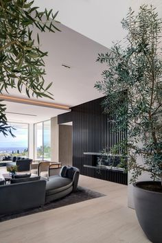 SAOTA turns Spanish-style house into Stradella villa in Bel Air Contemporary Interior, Modern Interior Design, Luxury Interior, Interior Architecture, Patio Interior, Interior Design Living Room, Interior And Exterior, Bel Air, Interior Minimalista