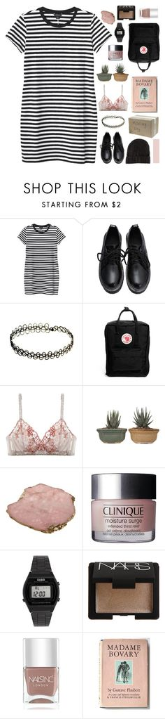 """""""☾ that little twinkle in your eye"""" by thundxrstorms ❤ liked on Polyvore featuring Monki, INDIE HAIR, Fjällräven, Lilipiache, Clinique, Casio, NARS Cosmetics, Nails Inc., H&M and scroll_position"""