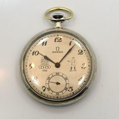 "1936 Vintage Omega Commemorative ""Berlin Olympics"" Pocket Watch"