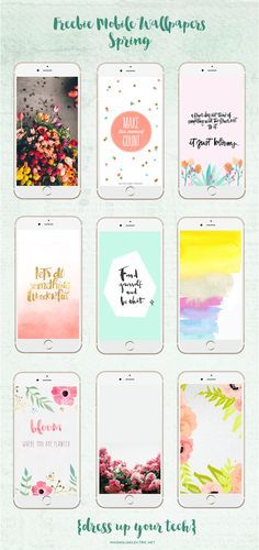 * magnoliaelectric: Freebie Mobile Wallpapers Collection {Spring}