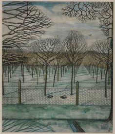 "Paul Nash, ""The Orchard"" (c. 1914)"