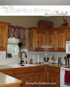 Learn how to update your kitchen on a very small budget!