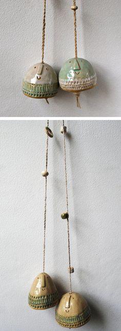 Campanas dobles by Atelier Stella #ceramica