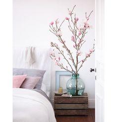 10x lente in huis met bloesemtakken