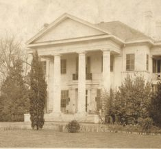 Morningview, a wealthy residence in Montgomery, Alabama. :: Alabama Photographs and Pictures Collection Gothic Revival Architecture, Southern Architecture, Architecture Old, Abandoned Plantations, Greek Revival Home, Montgomery Alabama, Antebellum Homes, Southern Plantations, Magnolia Trees