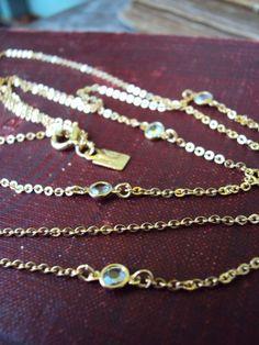 Vintage Emmons Triple Chain Necklace by primitivepincushion, $23.99