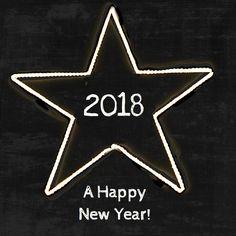 Nieuwjaarskaart Ster 2018, verkrijgbaar bij #kaartje2go voor € 12,95