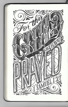 Sigh, Bible verse. But the lettering is awesome.