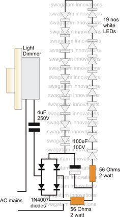 High Current Transformerless Power Supply Using Dimmer Switch | Homemade Circuit Projects