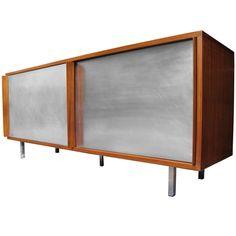 Georges  Frydman  E.F.A  aluminium sideboard