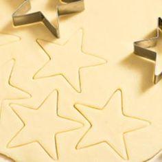 Bolachas estrelas de Natal