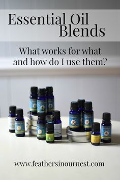 Which essential oil blends work for what? How to use 14 different blends from Rocky Mountain Oils. PLUS a giveaway!!  |  Feathers in Our Nest
