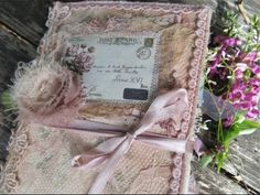 Lace Covered Journal from Chrissies Attic - YouTube
