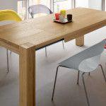 tavolo in rovere naturale finitura olio di lino SEDIT