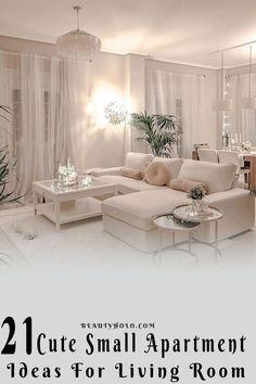 Living Room Decor Cozy, Home Living Room, Apartment Living, Chic Apartment Decor, Small Living Rooms, Apartment Ideas, Bedroom Decor, Home Room Design, Interior Design Living Room