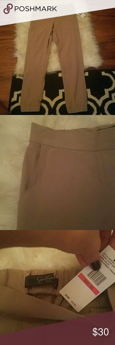 NWT. Beige gorgeous work trousers. Would be adoarble with a white or black blouse and a blazer (ass a color for some flair).   Offers welcome! Jessica Simpson Pants Trousers