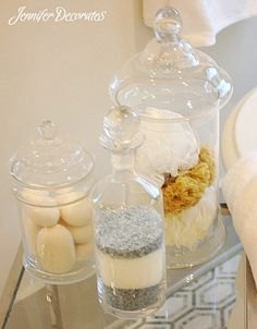 Basic essentials to help you create a stunning bathroom.  Jenniferdecorates.com