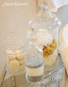 Basic essentials to help you create a stunning bathroom.  Jenniferdecorates.com