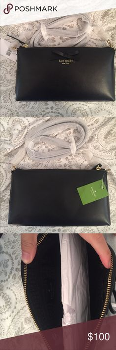 Black Kate Spade Crossbody Black Crossbody with bow detail kate spade Bags Crossbody Bags