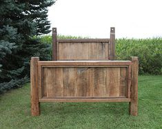 Queen Headboard Reclaimed Barn Wood and by TheReclaimedNation