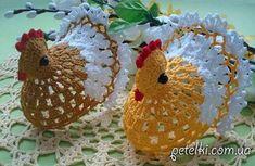 How to crochet chicken - Handmade-Paradise Crochet Birds, Crochet Animals, Crochet Gratis, Free Crochet, Crochet Stitches, Crochet Patterns, Crochet Chicken, Chickens And Roosters, Single Crochet