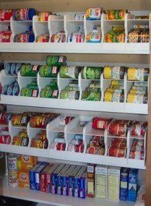 Soda can dispensers to organize can goods in pantry...