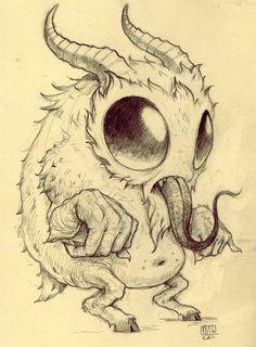A very cute Krampus :)  by Chris Ryniak #chrisryniak