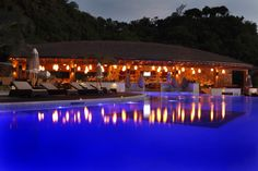 Even after sundown Buccament Bay Resort shines…   The Bay Beach Club at Buccament Bay Resort, St Vincent & The Grenadines