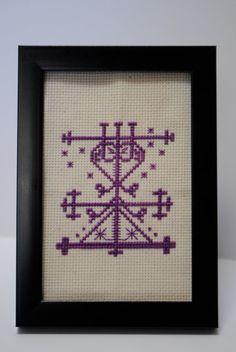 Maman Brigitte Voodoo Veve Cross Stitch PDF by CasualFashionQueen, $2.99