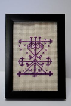 Maman Brigitte Voodoo Veve Cross Stitch PDF by CasualFashionQueen, $2.99