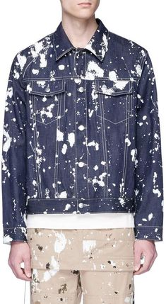 3.1 Phillip Lim Reversible paint splatter denim jacket