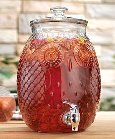 Another great find on #zulily! Owl 2.3-Gal. Beverage Dispenser #zulilyfinds