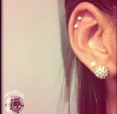 Double Cartilage Piercing. These are all the exact piercing I have.