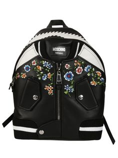 MOSCHINO MOSCHINO BOMBER BACKPACK. #moschino #bags #backpacks #