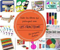 Aider les élèves qui pataugent avec les fractions pleins de petits jeux à faire + montessori