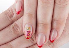 Teddy Bear Hearts Valentine's Day Nail Art
