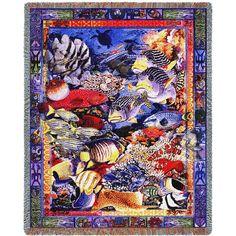 Undersea Paradise Art Tapestry Throw