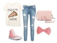 """""""Cute yet Casual Vday Outfit!"""" by livvie47 on Polyvore featuring Current/Elliott, Converse, Ted Baker, Missoni, women's clothing, women's fashion, women, female, woman and misses"""
