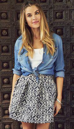 Sweet Seventies Printed Pleated Skirt