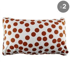 Set of 2 Tan Spot Pillowcases - Fictional Objects - Fictional Objects