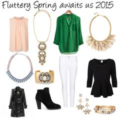 """Fluttery Spring 2015"" by nikoledrobeson on Polyvore"