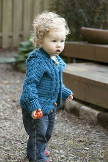 Hooded Cable Sweater  by Agnes Russell - Free Crochet Pattern