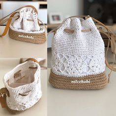 Crochet Handbags, Crochet Purses, Crochet Flower Patterns, Crochet Flowers, Crotchet Bags, Crochet Market Bag, Diy Crochet And Knitting, Craft Bags, Diy Fashion