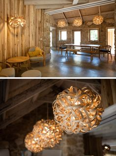 Lamps and Lighting – Home Decor : Steam bent wood lighting and furniture designs from Tom Raffield have been used to furnish this home. -Read More – Best Wood For Furniture, Furniture Design, Tom Raffield, Steam Bending Wood, How To Bend Wood, Bent Wood, Wood Lamps, Elegant Homes, Architecture